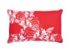 Peony Pillowcase, red and black, 38x58cm