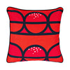 Seedpod Red and black - pillowcase 48x48