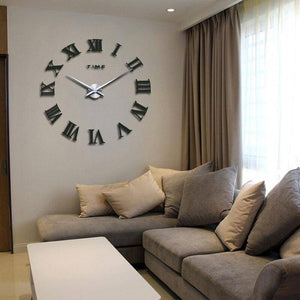 3D Wall Clock Multi-Colored Numeral Style