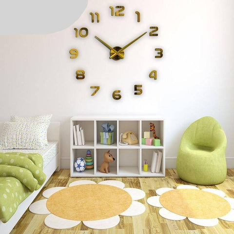 Image of 3D Wall Clocks Multi-Colored Style