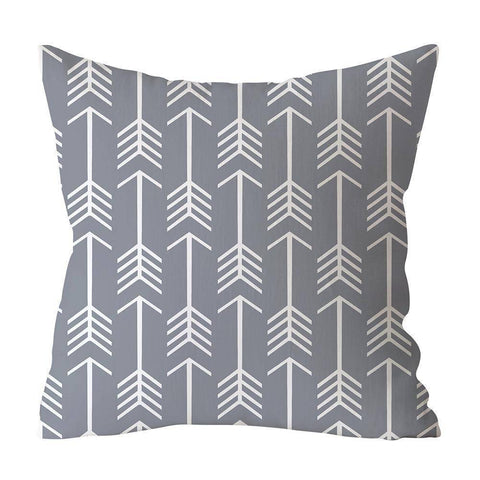 Gray Styled Cushion Pillow Covers
