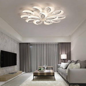 Remote Controlled LED Chandelier Lighting Full Blooms Style