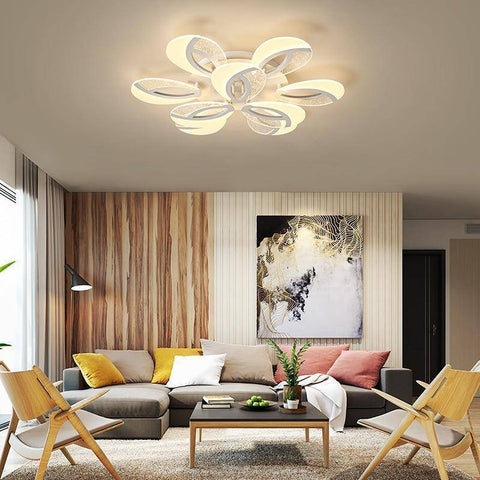 Image of Remote Controlled LED Chandelier Lighting Full Blooms Style