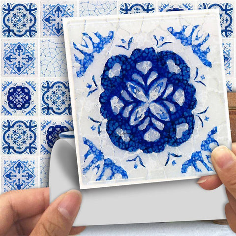 Ancient Blue Styled Peel & Stick Tile