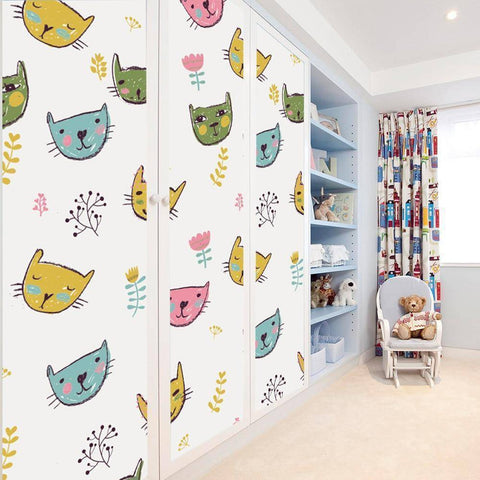 Artistry Cat Styled Peel & Stick Wallpaper