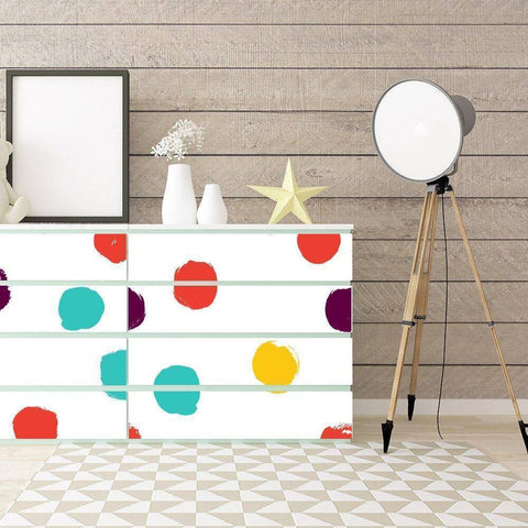 Artistry Dots Styled Peel & Stick Wallpaper