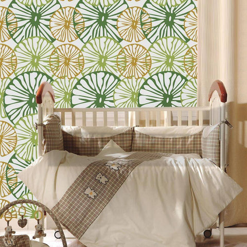 Image of Big Lime Styled Peel & Stick Wallpaper