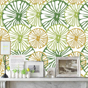 Big Lime Styled Peel & Stick Wallpaper
