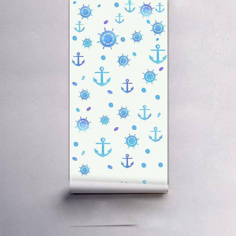Blue Caribbean Styled Peel & Stick Wallpaper