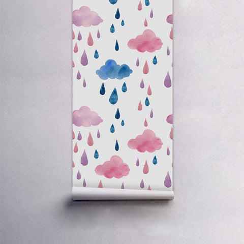 Image of Cloudy Rain Peel & Stick Wallpaper