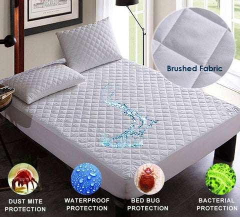 Image of Comfort Star™ Brushed Fabric Waterproof Mattress Protection Cover