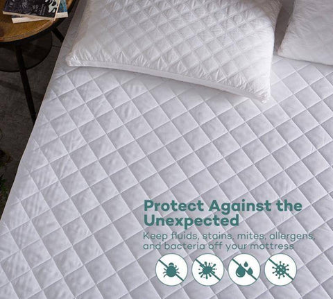 Comfort Star™ Brushed Fabric Waterproof Mattress Protection Cover