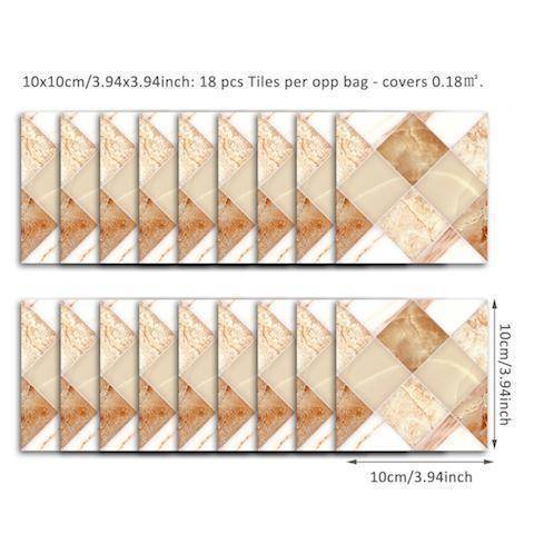 Image of Cream Marble Styled Peel & Stick Tile