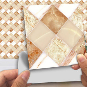Cream Marble Styled Peel & Stick Tile