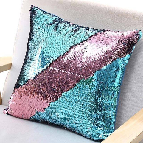 Image of Dual Colored Reversible Cushion Pillow Cover