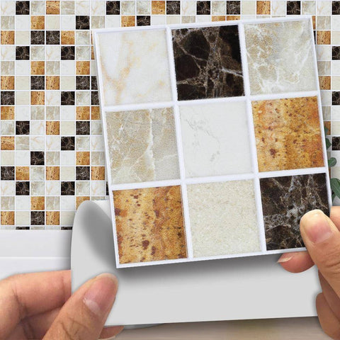 Image of Frosted Mosaic Marble Styled Peel & Stick Tile