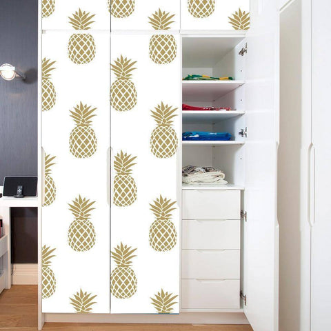 Golden Pineapple Styled Peel & Stick Wallpaper