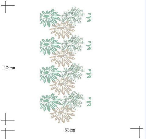 Greenie Sun Flower Styled Peel & Stick Wallpaper