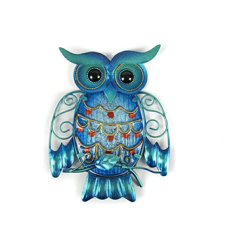 Image of Lucky Blue Owl Hanging Statue