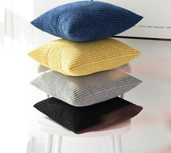 Multi-Colored Mini Square Patterned Cushion Pillow Covers