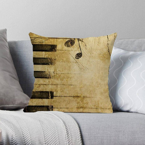 Image of Musical Patterned Cushion Pillow Cover