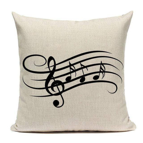 Musical Patterned Cushion Pillow Cover