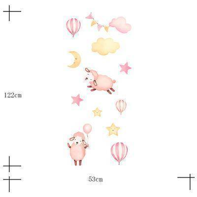 Pink Mama Sheep Peel & Stick Wallpaper