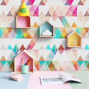Rainbow Triangle Styled Peel & Stick Wallpaper