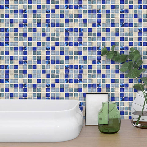 Rosama Blue Styled Peel & Stick Tile