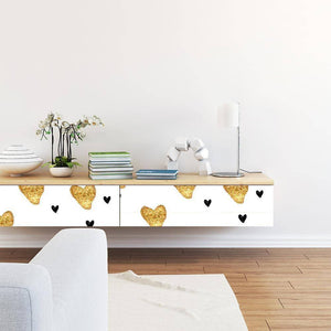 Two Hearts Styled Peel & Stick Wallpaper