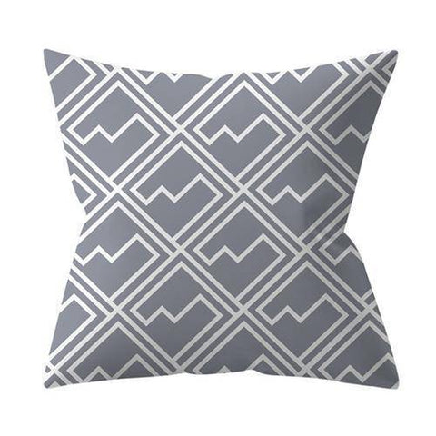 Image of Gray Styled Cushion Pillow Covers
