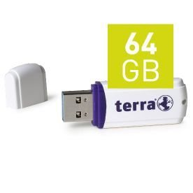 TERRA USThree USB3.0 64GB white Read/Write ~120/15 MB/s