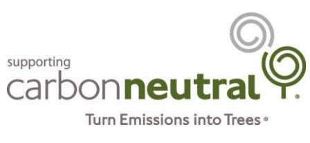Carbon Neutral logo turn emissions into trees