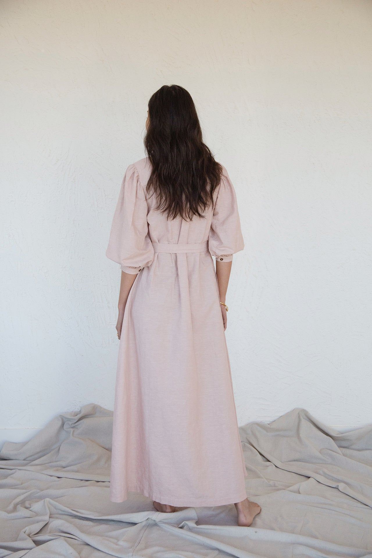 Hera Dress in Desert Blush
