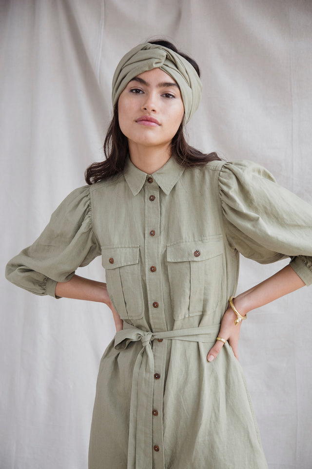 Calypso dress in Khaki
