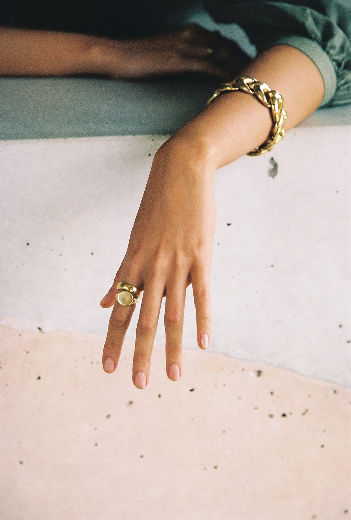 Kali chain bracelet - gold plated
