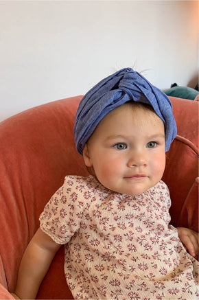MINI turban headband in Cobalt
