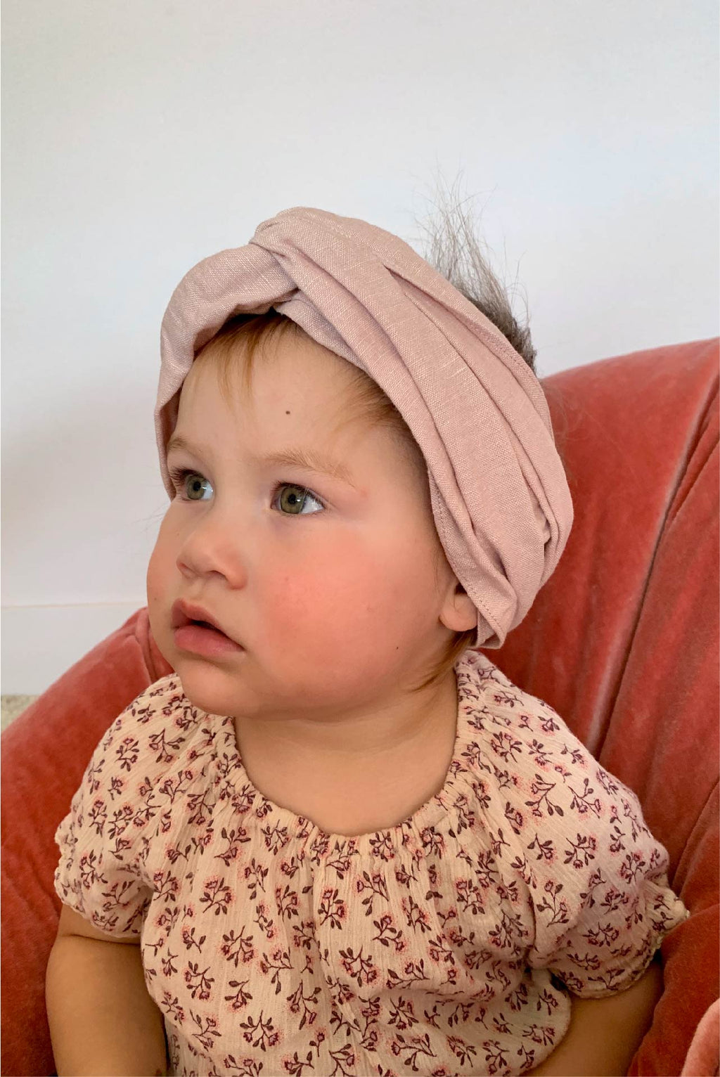 MINI turban headband in Blush