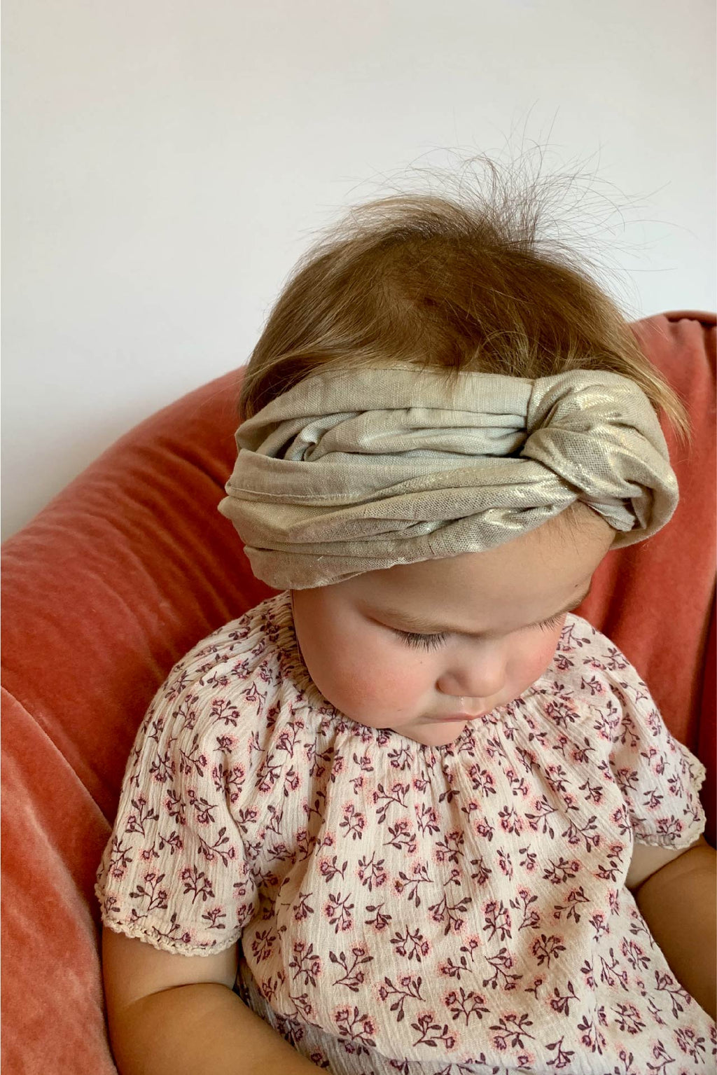MINI turban headband in Soft Gold
