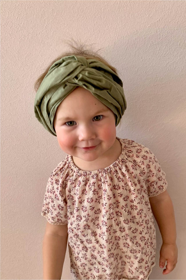 MINI turban headband in Khaki