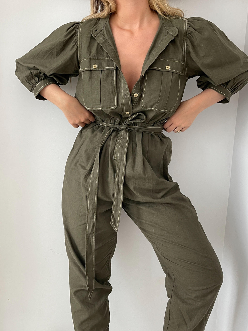 Ivy Jumpsuit in Olive