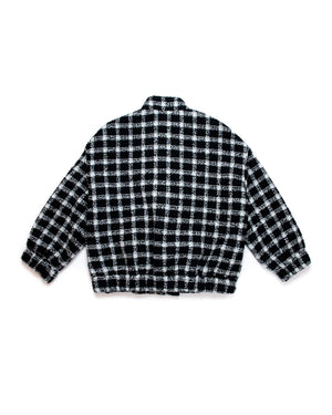 DROPPED SHOULDER TWEED JACKET