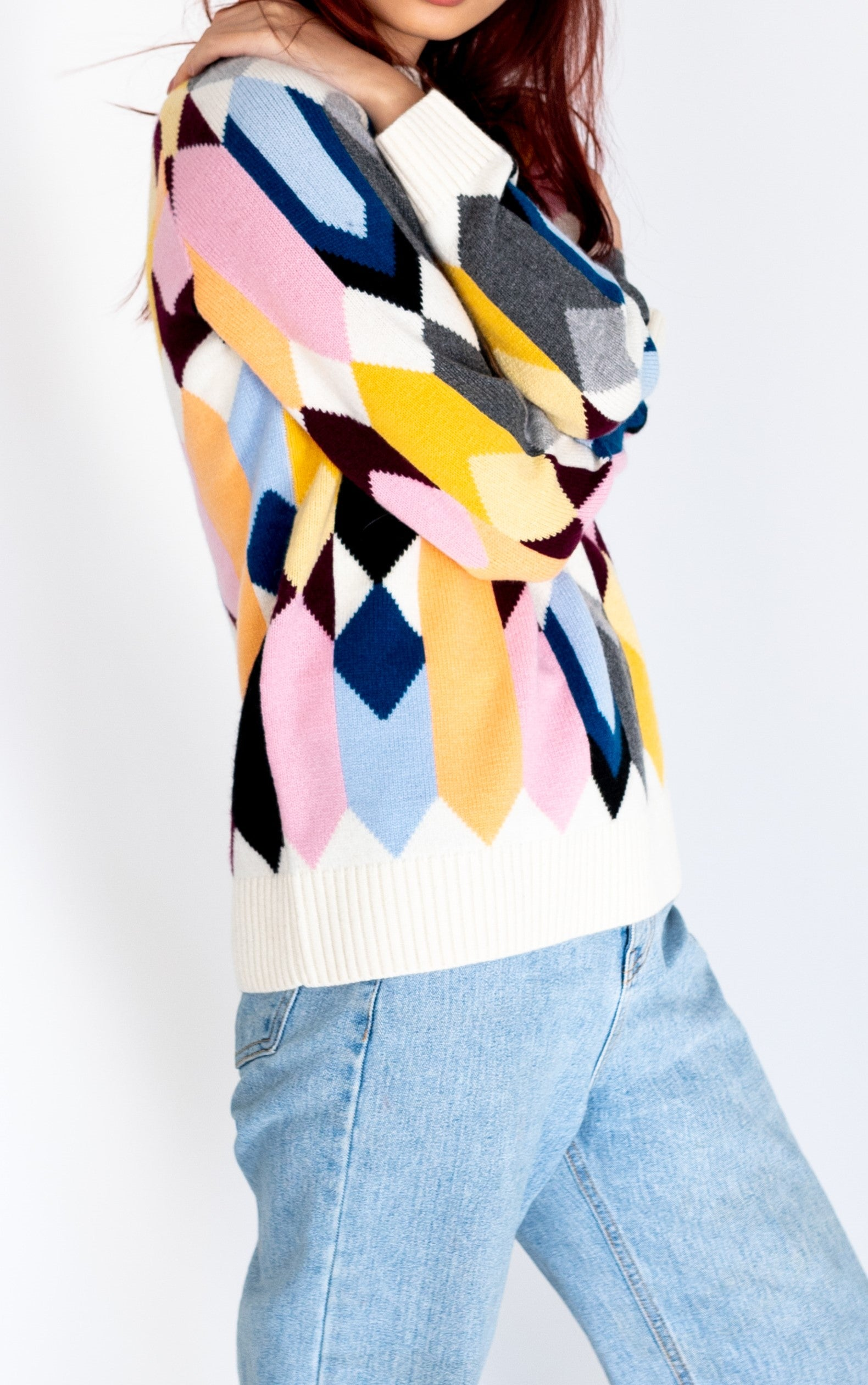 PATTERNED CASHMERE SWEATER
