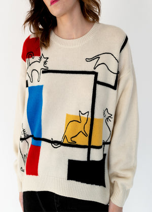 HANDCRAFT TURIN CATS SWEATER