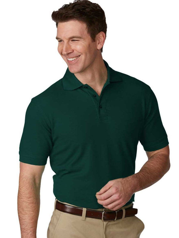 Men's Pique Knit Short Sleeve Polo Shirt