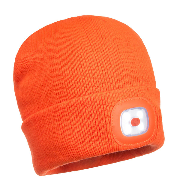 PORTWEST® Beanie LED Head Light USB Rechargeable