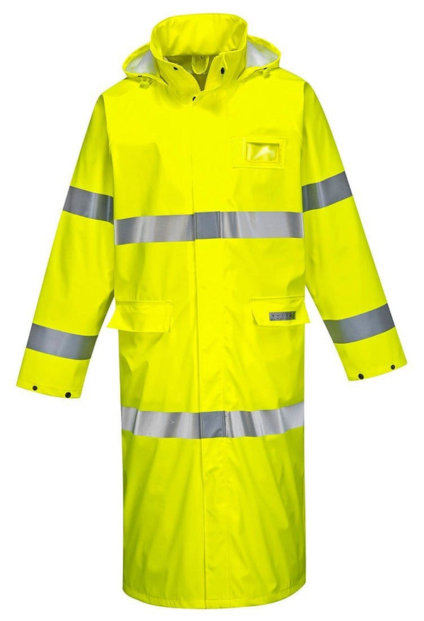 Portwest men's fire resistant Sealtex high visibility rain coat