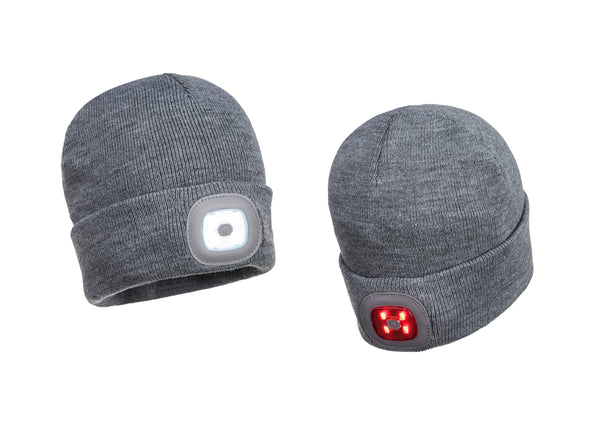 PORTWEST® Rechargeable Twin LED Beanie - (Pre-Order)