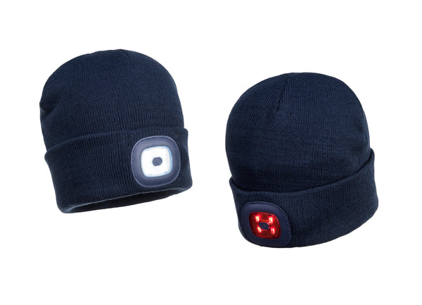 PORTWEST® Rechargeable Twin LED Beanie