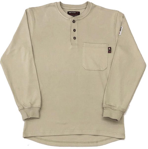 7oz. FR Henley I Pre Shrunk Cotton